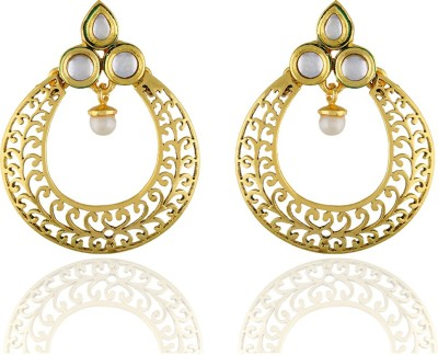 One Stop Fashion Unique Designer Gold Plated Alloy Earrings Alloy Chandbali Earring