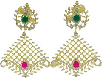 RK Style Glittering Brass Chandelier Earring