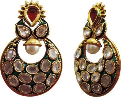 Yogada Ethnic003 Alloy Chandbali Earring