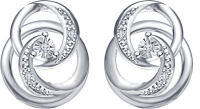 Devina Jewels Swirl Earrings Cubic Zirconia Sterling Silver Stud Earring