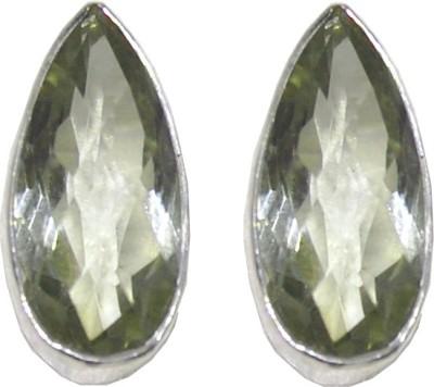 Arvino Glory of Green Amethyst Sterling Silver Stud Earring