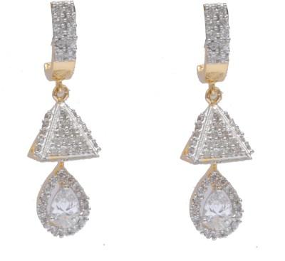 Neelam fusion of western ethinic earings with zumki in american diamond Alloy Jhumki Earring