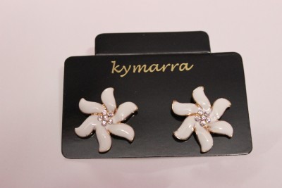 Kymarra Floral Love Brass Earring Set