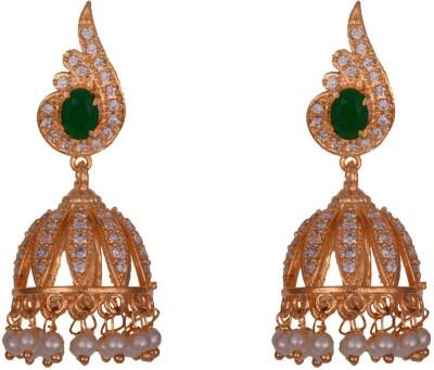 Mahaveer Pearls New Designer Brass Jhumki Earring
