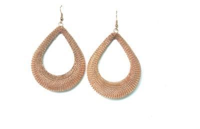 Gajraula Crafts Golden Alloy Dangle Earring