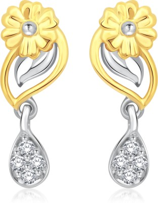 Classic Parijat Gold And Rhodium Plated Earrings for Women [CJ1004ERG] Cubic Zirconia Alloy Drop Earring