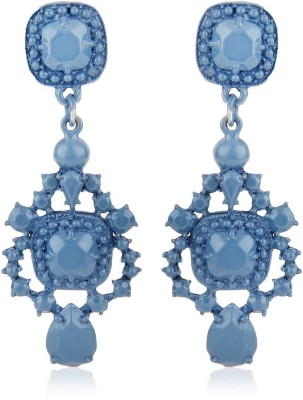 Moedbuille Blue Drop Earrings [MBER00337] Cubic Zirconia Alloy Drop Earring
