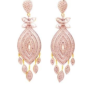 Ojas Jewels Stunning Silver Zircon Alloy Chandelier Earring