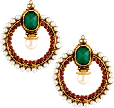 Pinnie Ethnica Moti Chand Copp Coloured Earrning Copper Chandbali Earring
