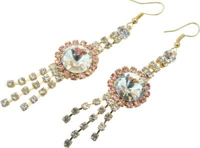 Store Utsav Soft Pink Zircon Alloy Dangle Earring