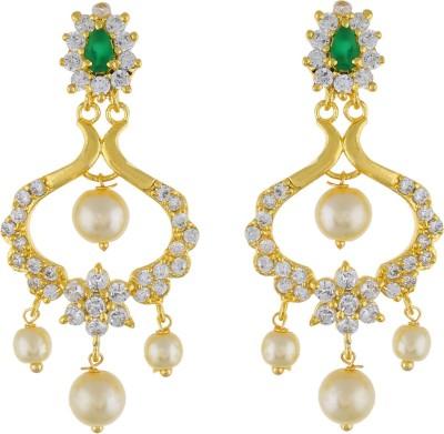 Jewel Planet fashion Pearl Alloy Chandbali Earring