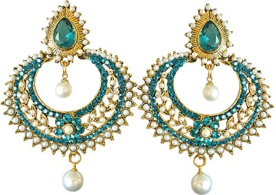 Surat Diamond Pashmina Metal Dangle Earring