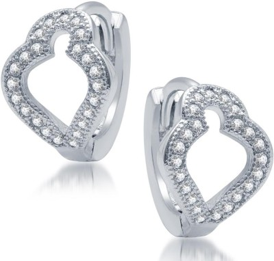 Sukkhi Glimmery Micro Pave Cubic Zirconia Alloy Hoop Earring