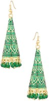 Gemshop Green Beaded in Geometric Shape Alloy Dangle Earring best price on Flipkart @ Rs. 419