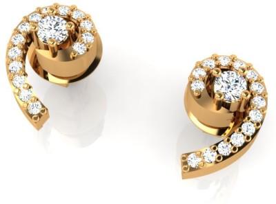 Arkina Diamonds Commet Dots Yellow Gold 18kt Diamond Stud Earring