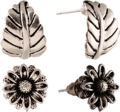 Anokhi Ada Sunflower and Leaf Metal Stud Earring