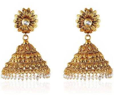 Royal Bling Golden Grace Copper Jhumki Earring