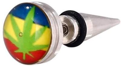 Little Goa Leaf Design Ear Taper Body Piercing-25 mm Metal Stud Earring