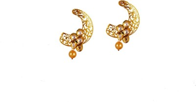 Ratnaraj India Partywear PolishPlated Pearl Copper Jhumki Earring