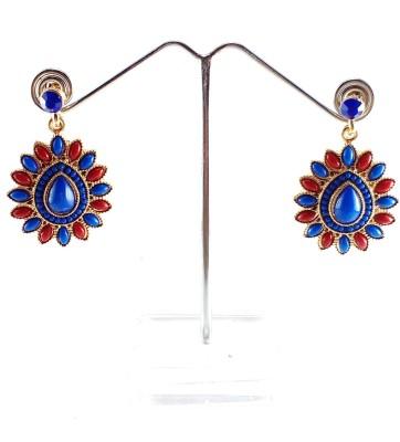 Divitha Allure Multicoloured pachi drops for women. Alloy Drop Earring