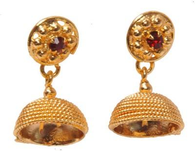 PFJ PFJ3026-EARRING Cubic Zirconia Brass, Copper Jhumki Earring