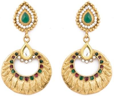 KANISH Ravishing Gold Alloy Chandbali Earring