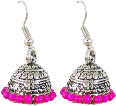 AsiaCraft Pink Traditional Metal Jhumki Earring