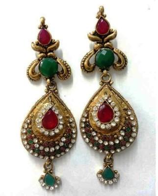 Aarnaa La Trendz Crown Traditional Alloy Drop Earring