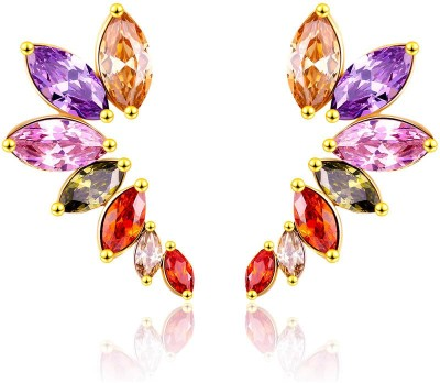 Yellow Chimes luxurious Metal Stud Earring at flipkart