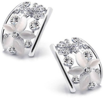 Roma Brothers OPAL FLORAL Cubic Zirconia, Opal Alloy Stud Earring