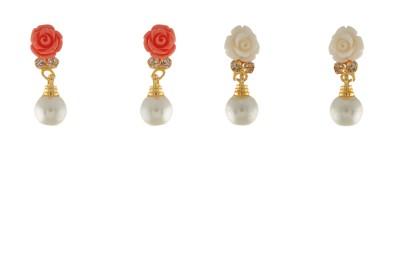 FreshMe Fashion Jewellery Rosy Alloy Stud Earring