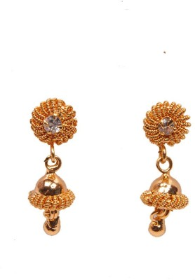 PFJ PFJ3020-EARRING Cubic Zirconia Brass, Copper Drop Earring
