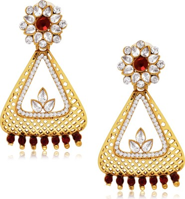 Spargz Designer Hanging in Gold Finish Alloy Drop Earring