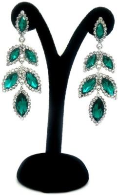 London Jewels Leafy Purple Alloy Drop Earring