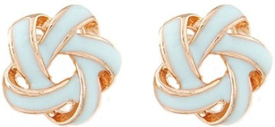 Young & Forever Pastel Intertwining Alloy, Enamel Stud Earring