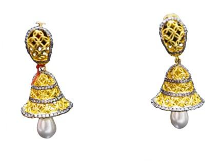 Goonj Princess Delight Cubic Zirconia Copper Jhumki Earring