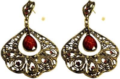 Krishna Mart A Pair Of Brass Metal Ethnic Design Hippie Earrings Brass Dangle Earring