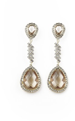 Jewelfin Brown Touch Alloy Drop Earring