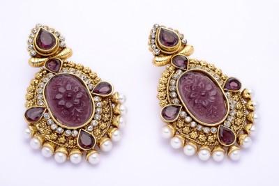 Hyderabad Jewels Copper Chandelier Earring