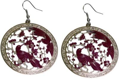 Krishna Mart A Pair Of Indian White Metal Bird Danglers Earrings Metal Dangle Earring