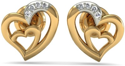 R S Jewels Yellow Gold 18kt Diamond Stud Earring