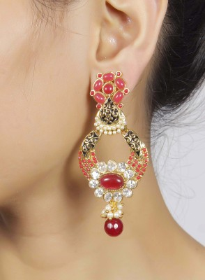 Muchmore Fashion Earring Ruby, Crystal Crystal, Rubber Drop Earring