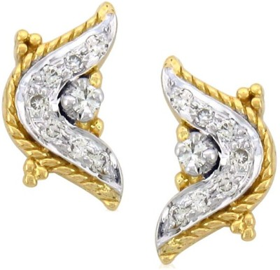 Sparkles T2168D Yellow Gold 18kt Diamond Stud Earring