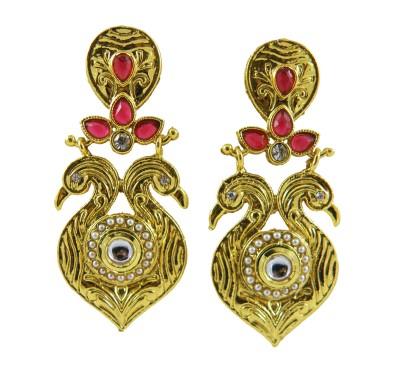 Shreyadzines Golden sparkle Alloy Drop Earring