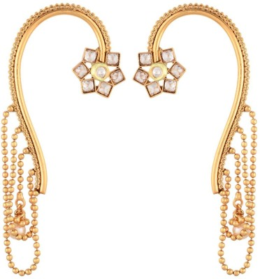 Prita Gold Plated Alloy Cuff Earring