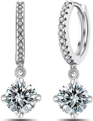 Silver Shoppee Passionate Crystal, Cubic Zirconia Metal Drop Earring