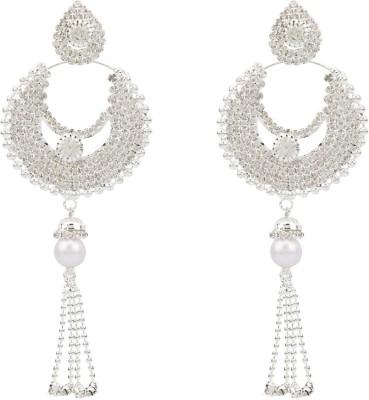 EB bling Diamond Brass Huggie Earring