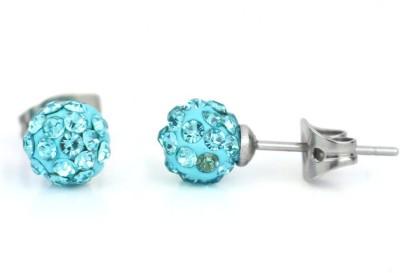 Fab Fashion Blue Ear Stainless Steel Stud Earring