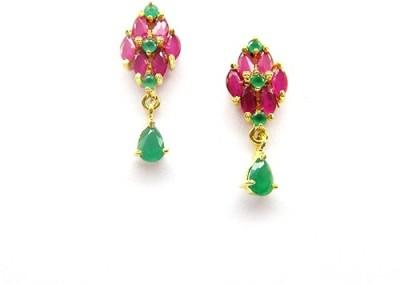 E-Designs TOP76GJ149-360 Cubic Zirconia Brass Drop Earring