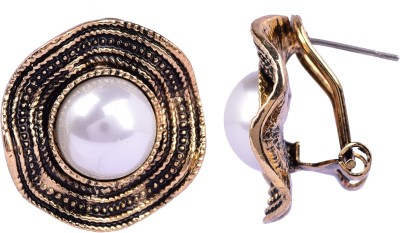 Maisha Trendy black and Gold. Alloy Drop Earring